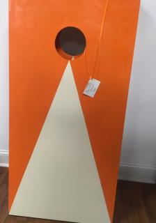 Orange/white Corn Hole Boards