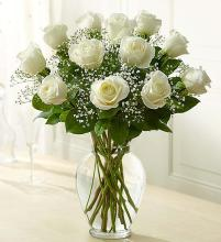 Rose Elegance  Premium Long Stem White Roses