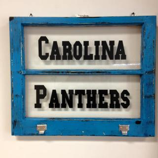 Carolina Panther Window