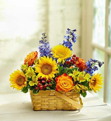 Blooming Basket Arrangement