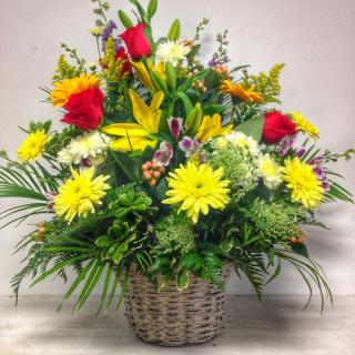 Colorful Floral Basket
